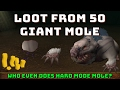 Loot From 50 Giant Mole Hardmode [Runescape 3] Episode #10