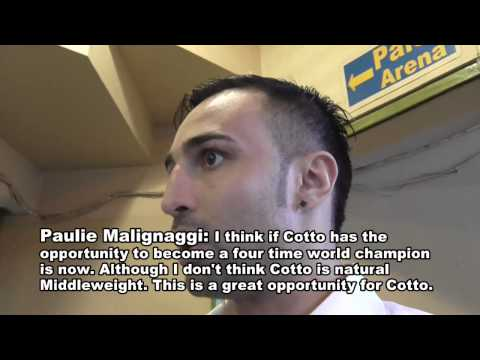 Paulie Malignaggi On Miguel Cotto vs Sergio Martinez