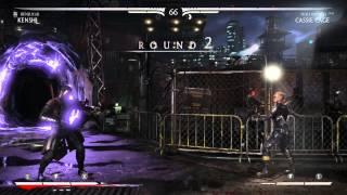 Mortal Kombat X Kenshi vs Cassie Cage PS4 Gameplay