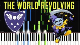 THE WORLD REVOLVING - Deltarune (Jevil Boss Battle Theme) [Synthesia Piano Tutorial]