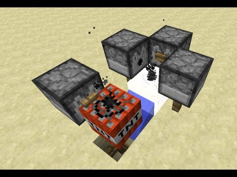TNT Cannon in 18 Seconds -- Minecraft Tutorial