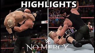 BROCK LESNAR VS BRAUN STROWMAN | NO MERCY 2017 HIGHLIGHTS - WWE 2K17