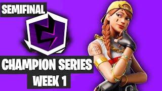 Fortnite Champion Series Trio Week 1 Highlights Semifinals Game 1 NA East [Fortnite Tournament 2019]