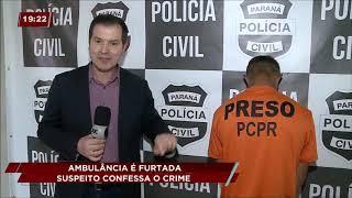Homem é preso após furtar ambulância em UPA de Curitiba