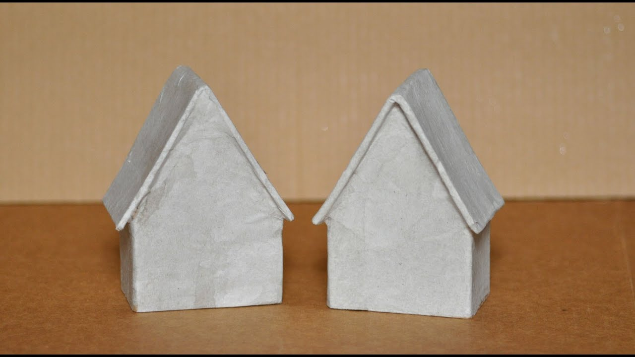 How To Make A Paper Mache House Youtube