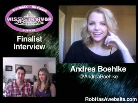Andrea boehlke finalist interview for miss survivor youtube