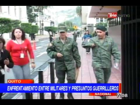 Enfrentamiento entre militares y presuntos guerrilleros