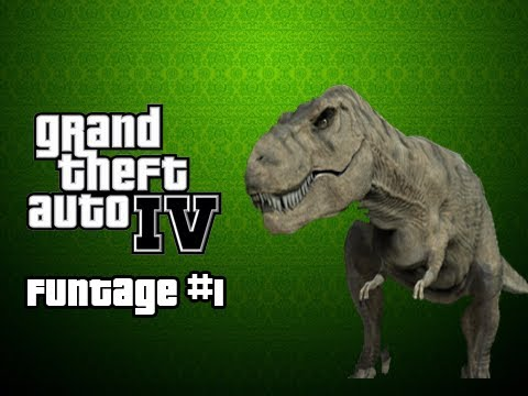 Grand Theft Auto 4 Funtage #1 - DINOSAUR!!!
