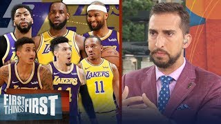 Nick Wright lays out the best lineup for LeBron, Lakers | NBA | FIRST THINGS FIRST