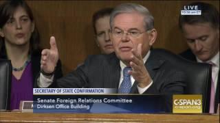 Menendez Questions Rex Tillerson at Confirmation Hearing
