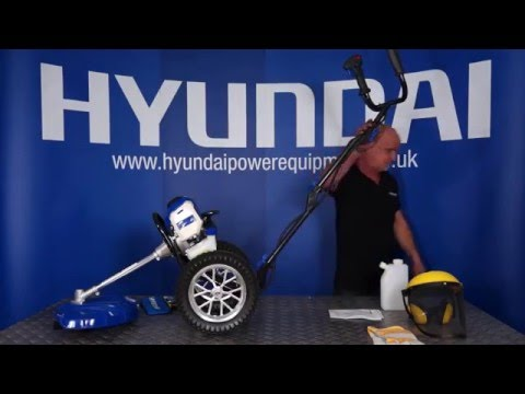 Hyundai Wheeled Grass Trimmer / Strimmer HYWT5080 Out of the Box & Assembly