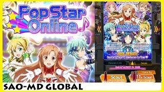 PopStar Online? Idol Debut Batch My 1st Impression & 250 Diamonds Scout (SAO Memory Defrag)