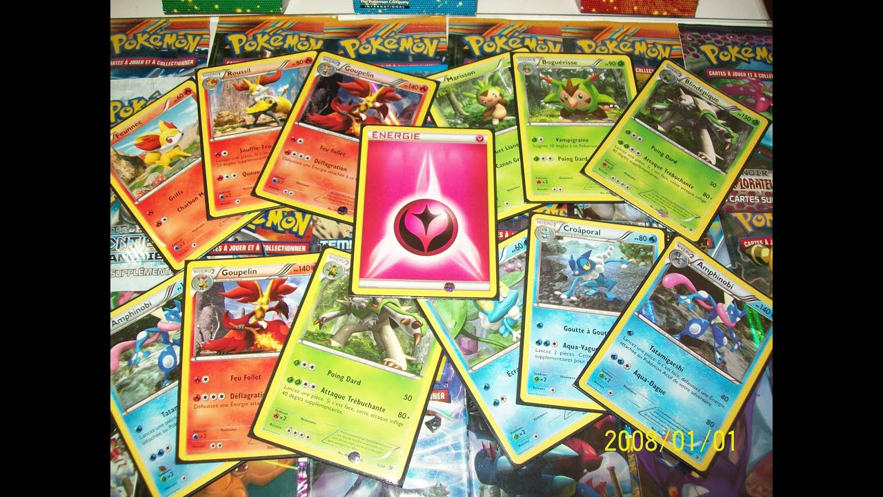 Collection compl te 100 de pok mon x et y energie f e et starters x et y youtube - Tout les carte pokemon ex ...