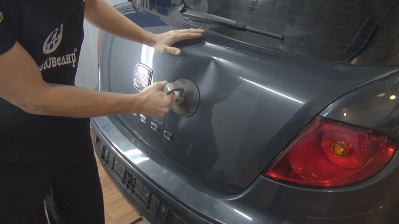 Как убрать вмятину на машине своими руками  412