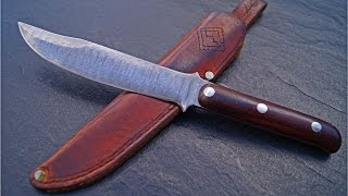 Custom Bowie Knife Manfred Sachse Damaszener Klinge Real Damast Blade Germany Messer