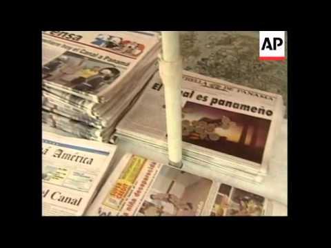 PANAMA:  CANAL HANDOVER - ANT-U-S DEMONSTRATION