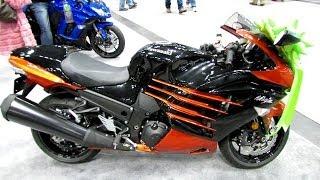 2014 Kawasaki Ninja ZX 14R Walkaround 2013 NY Moto Show 02:14