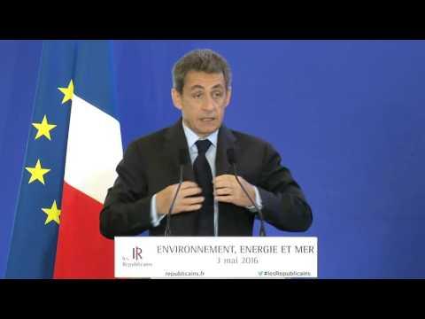 Discours de Nicolas Sarkozy - Journée environnement, énergie et mer - 3 mai 2016
