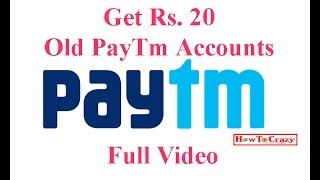 Trick - Use PAYTM20 in old PayTm Account - Full Video