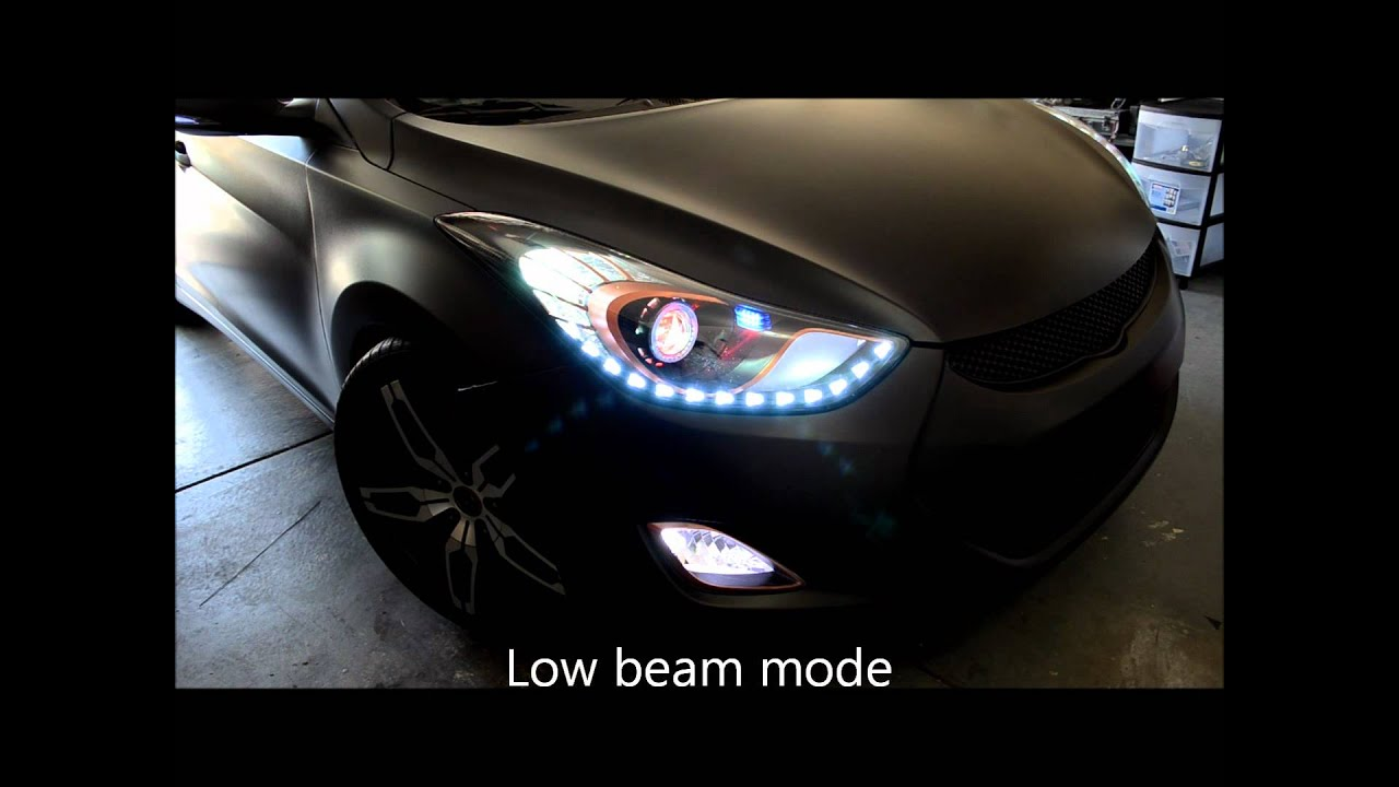Retrofit Headlight For 2011 Elantra Md Youtube