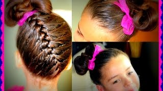 Trenza Invertida con corbatin - Upside down Braid  and bowtie hairtutorial