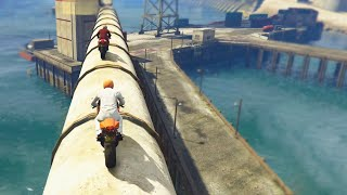 AWESOME MOTORBIKE RACES! (GTA 5 Funny Moments)