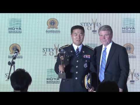 Ju Man Park wins a Grand Stevie Award at the 2015  Asia Pacific Stevie Awards.