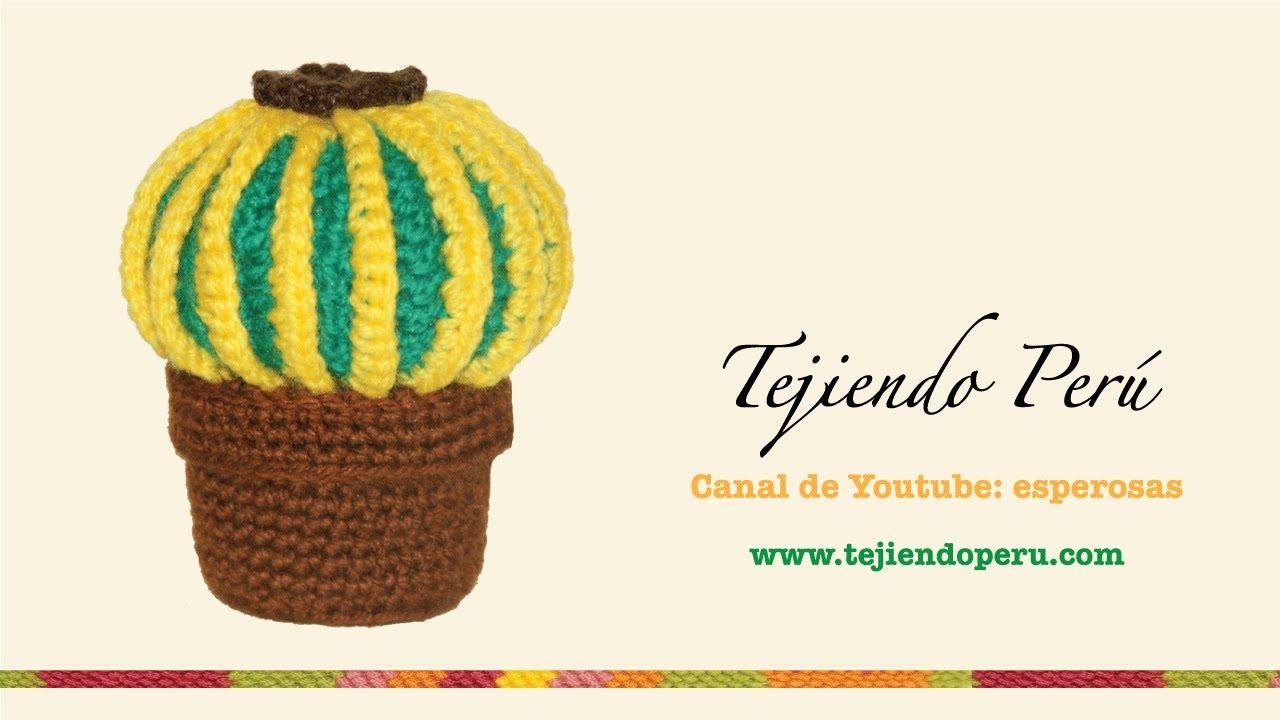 Amigurumi Cactus Paso A Paso : Cactus redondo tejido en crochet amigurumi youtube