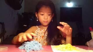 Giới thiệu cát động lực màu xanh nước và màu cam