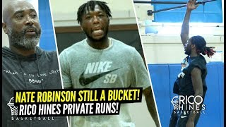 Nate Robinson STILL A BUCKET!! Shows OUT w/ Montrezl Harrell At Rico Hines Private Runs!!