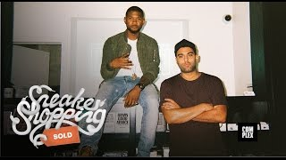 Usher Goes Sneaker Shopping with Complex