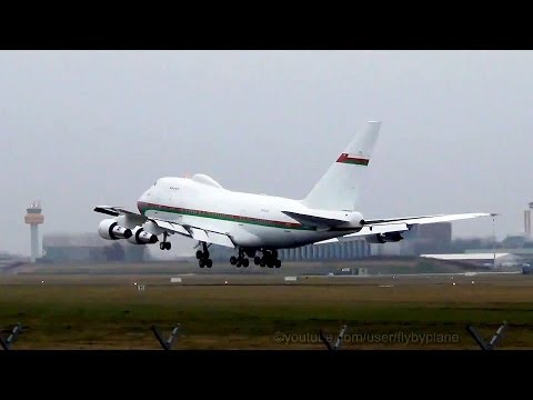 Oman Royal Flight  B747 SP (A4O-SO) Takeoff Landing @ Hamburg Airport