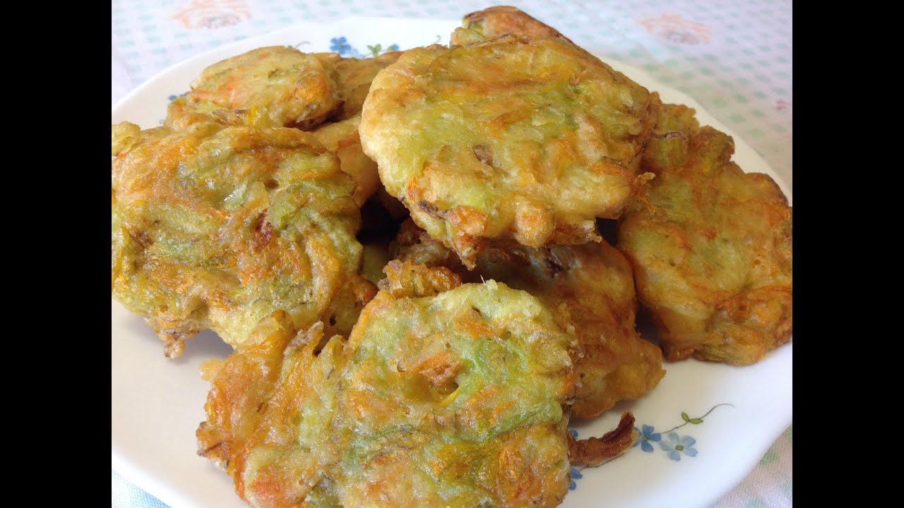 Frittelle di fiori di zucchine youtube for Cuocere v cucinare