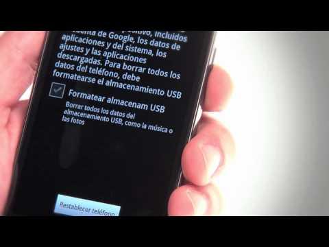 Restaura tu Android a los valores de fábrica
