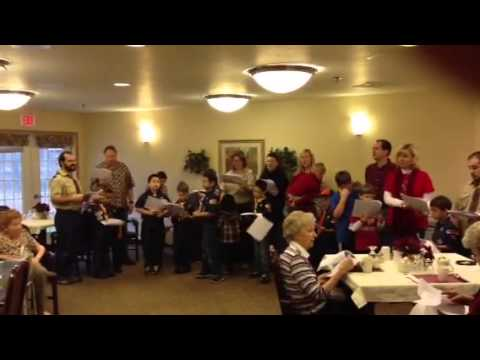 Heritage Christian schools Cub Scout pack 33 caroling