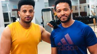 Henok Wondimu and Wendi Mak workout