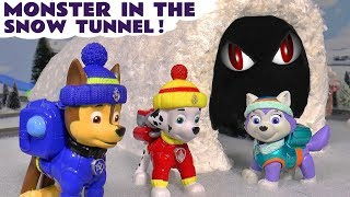 Paw Patrol Rescue | Monster In The Snow Tunnel Episodes with Everest and the funny Funlings TT4U