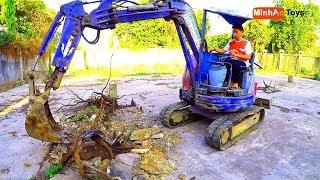 Excavator Videos for Children ❤ Excavator Working Hard at VietNam ❤ Song for ChildrenDance