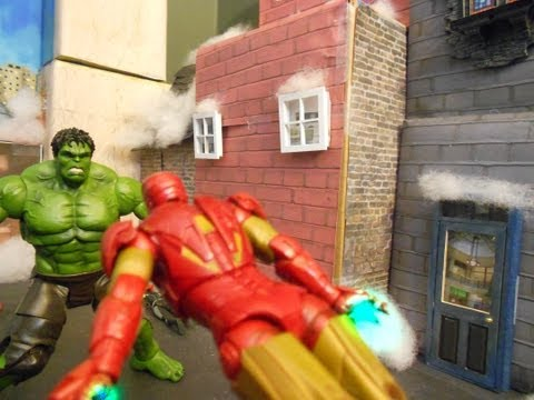 Hulk Vs the Avengers Stop Motion Fight