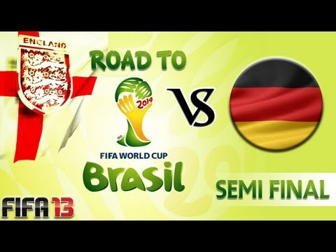 [TTB] FIFA 13 - Road to the World Cup 2014 - England Vs Germany - Semi Final - Tough Game!