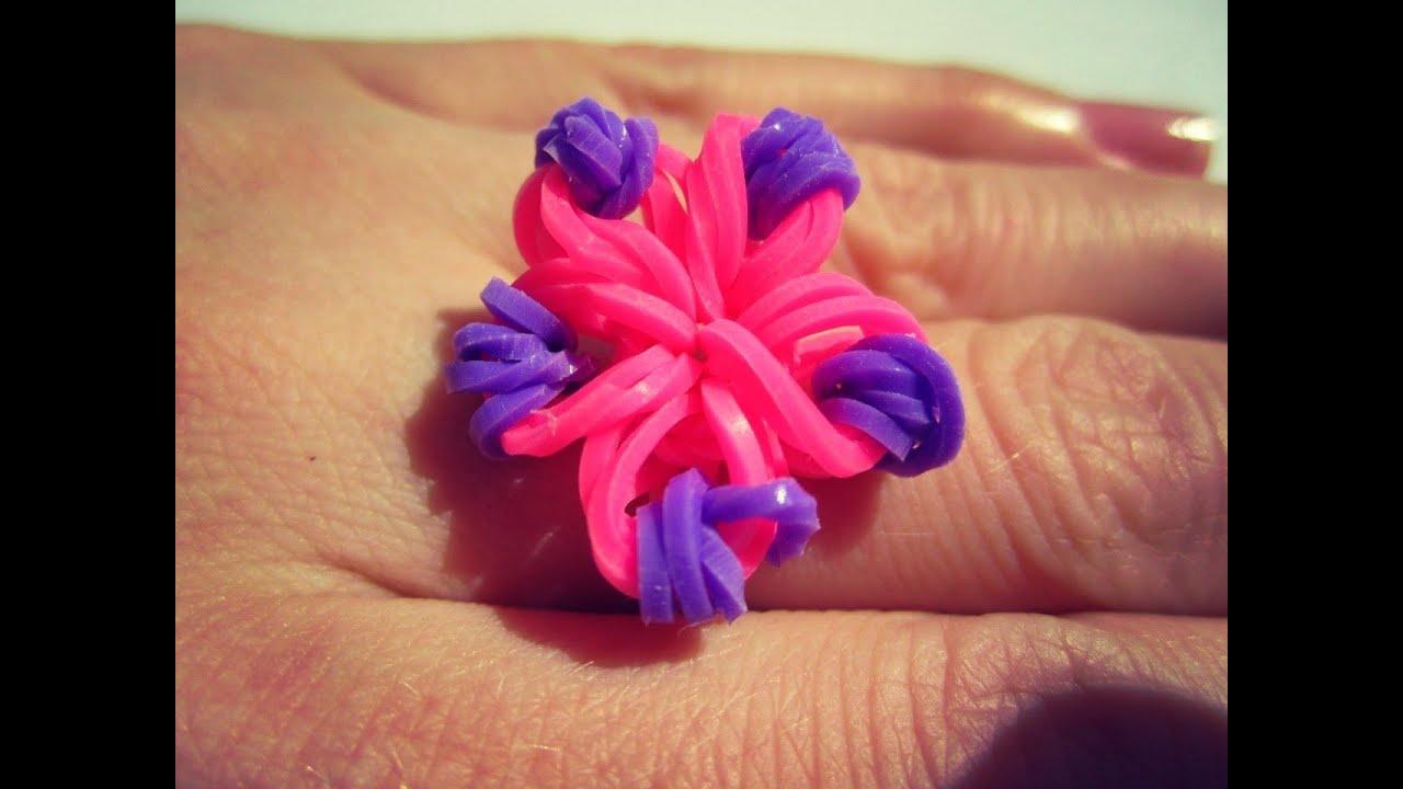 Как из резинок сделать цветочек из 2