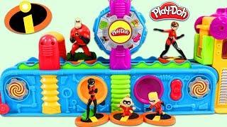 The Incredibles Characters Visit Play Doh Mega Fun Factory Playset!