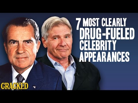 7 Most Clearly Drug-Fueled Celebrity Appearances - The Spit Take
