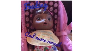 Baby alive name reveal and feeding | Furbtastic Fun
