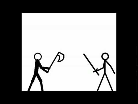 stick people figting