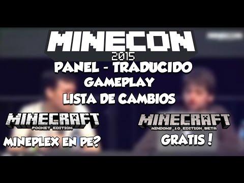 MINECON 2015 PANEL MINECRAFT PE 0.12.0 / WINDOWS 10 - TRADUCIDO  - GAMEPLAY - CAMBIOS Y MAS!