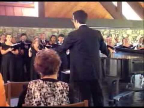 MARY ROBERTS singing with the Mars Hill University Choir