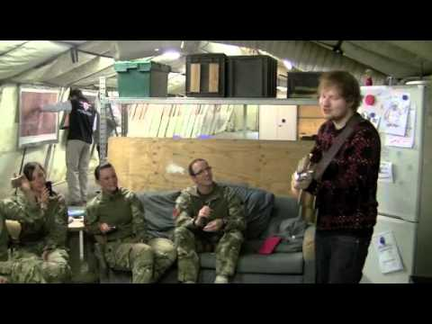Ed Sheeran in Camp Bastion with RAF Military Police