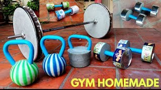 5 Awesome To Make Homemade DUMBBELLS Kettlebells And Barbells Gym At Home