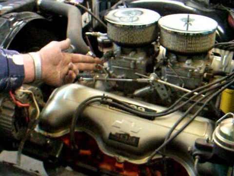 Chevy 409 Engine 500 Hp Dual Quad Youtube